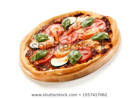 Zucchine frutti di mare pizza view alimentare Foto d'archivio © boggy