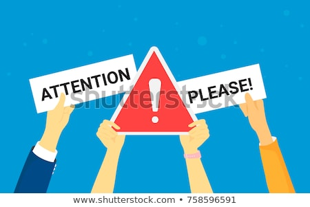 Draw attention concept vector illustration. Stock photo © RAStudio