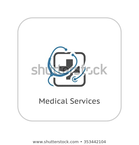 medication and medical services flat icon stock photo © wad