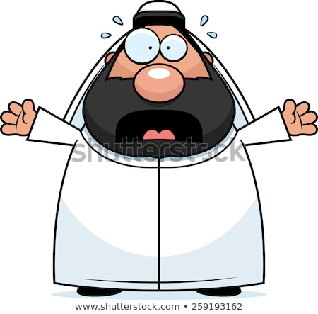 Scared Cartoon Sheikh Stock photo © cthoman
