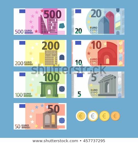 Moeda dinheiro euro negócio numerário Foto stock © Zerbor