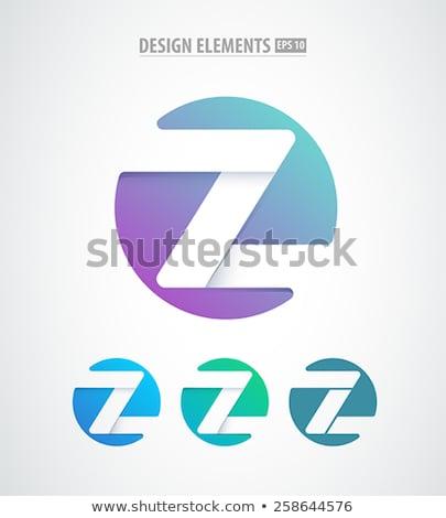 blue green letter z logo vector icon sign stock photo © blaskorizov