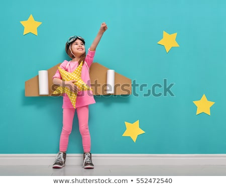 Little girls in cardboard boxes Stock photo © colematt
