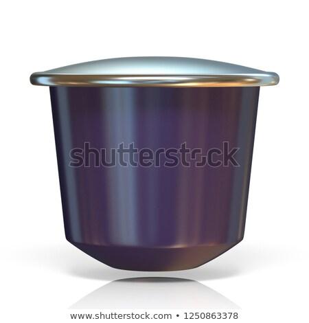 Pourpre café capsule vue 3D Photo stock © djmilic