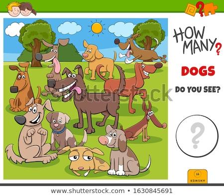 Veel honden taak illustratie onderwijs kinderen Stockfoto © izakowski