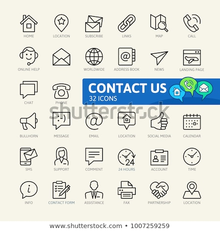Online news and info, mail and message icons. Stock photo © robuart
