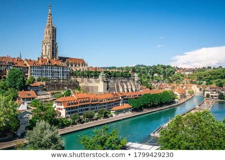 Швейцария перспективы мнение небе здании Церкви Сток-фото © boggy