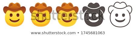 Desenho animado sorridente vaqueiro feliz sucesso Foto stock © cthoman