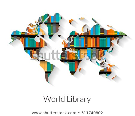 Book and the world on white background Stock photo © colematt