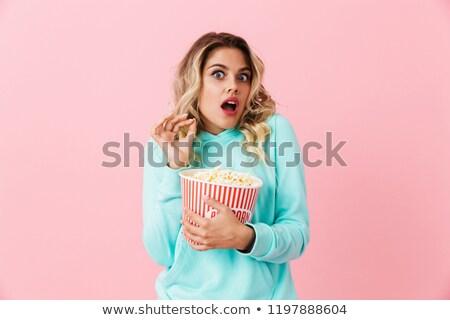 изображение несчастный женщину 20-х годов кричали Сток-фото © deandrobot