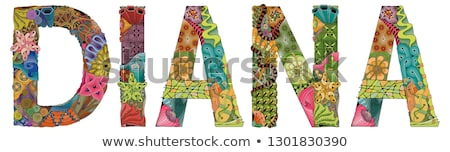 female name diana vector decorative zentangle object stock photo © natalia_1947