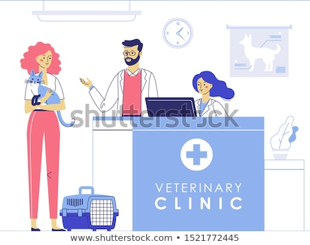 veterinarian clinic reception patients with pets stock photo © robuart