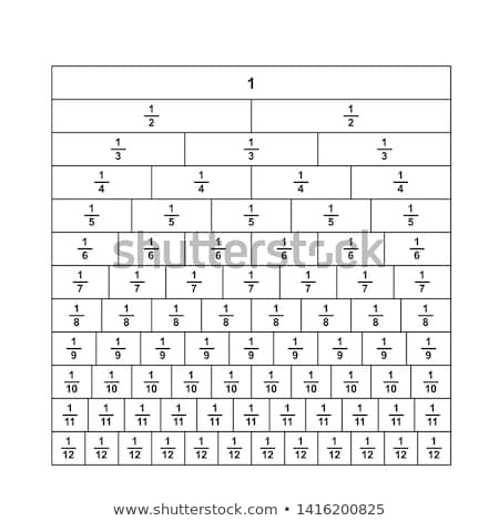 Stock photo: A math fractions worksheet