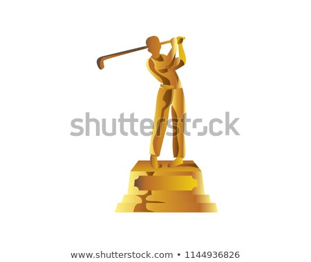 Golf jeu attribution vecteur balle de golf or Photo stock © pikepicture