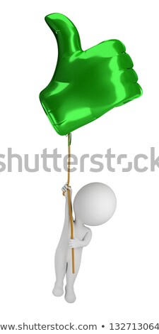 3d small people - flying in a balloon Like Stock photo © AnatolyM
