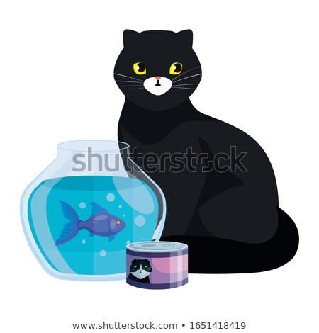 Mascot Fish Bowl Empty Illustration Stock photo © lenm