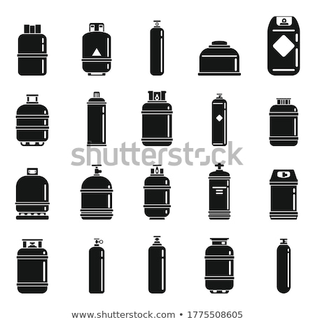 Rood · gas · cilinder · illustratie · witte · fles - stockfoto © angelp