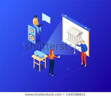 Stock photo: Choose your route - modern colorful isometric illustration