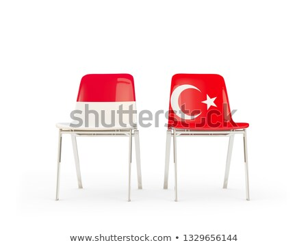 Two chairs with flags of Indonesia and turkey Stock photo © MikhailMishchenko