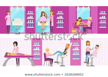 cabelo · estilos · mulheres · vetor · isolado - foto stock © robuart