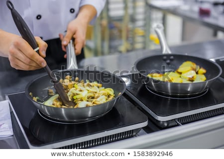 Fried potato with onion Stock photo © YuliyaGontar