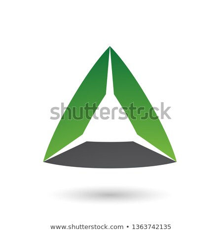 Green and Black Triangle with Bowed Edges Vector Illustration Stock photo © cidepix