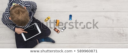 интернет зависимость баннер крошечный деловые люди Сток-фото © RAStudio