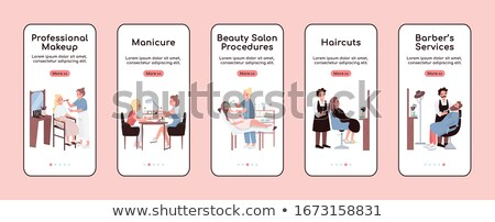 Make procedure schoonheidssalon cartoon banner vector Stockfoto © robuart