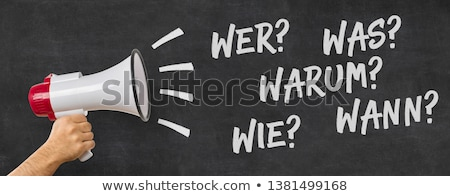 Homem megafone tradução perguntas negócio Foto stock © Zerbor