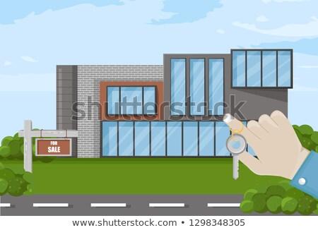 Kéz tart kulcsok ház vásár vektor Stock fotó © frimufilms
