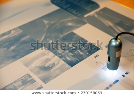 Printing on plates in workshop Stock photo © AndreyPopov