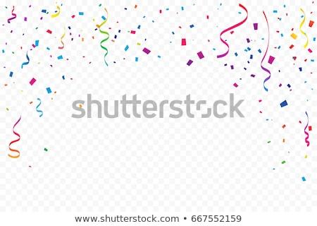 Celebration with confetti Stock photo © pressmaster