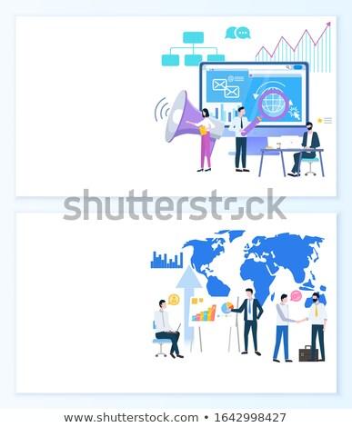 Stok fotoğraf: Pazarlama · stratejileri · iş · süreç · etkili · web · sitesi