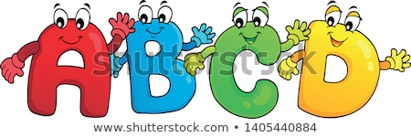 Cartoon ABCD letters theme 3 Stock photo © clairev