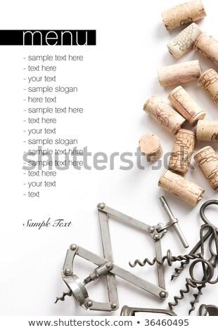различный вино деревянный стол Top мнение копия пространства Сток-фото © karandaev