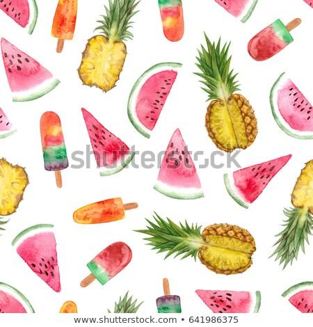 Aquarel zomer oranje vruchten Stockfoto © balasoiu