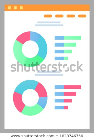 Crowdfunding Information on Display, Growth Rates Stock photo © robuart
