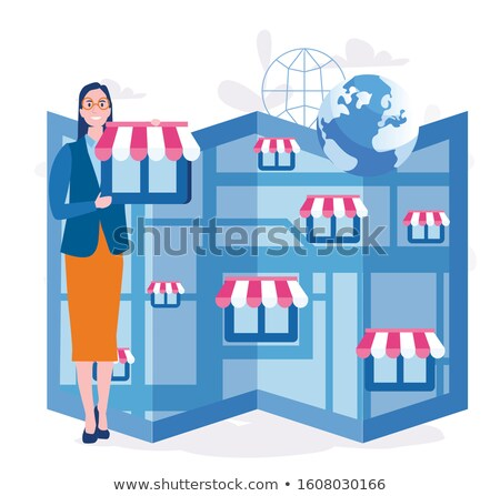 Woman with Planning Tasks Hands of Partners Vector Stock photo © robuart