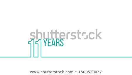 11 years anniversary or birthday linear outline graphics can be used for printing materials brouc stock photo © kyryloff