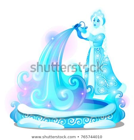 Lodu rzeźba formularza wody dobrze Zdjęcia stock © Lady-Luck
