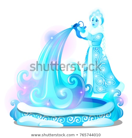 Gelo escultura forma água bem Foto stock © Lady-Luck