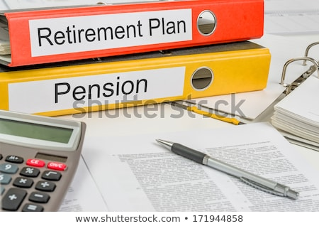 A folder on a desk with the label Retirement Plan Stock photo © Zerbor