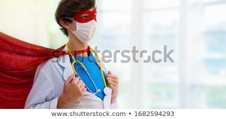 masculina · cirujano · uniforme · aislado · blanco - foto stock © pressmaster