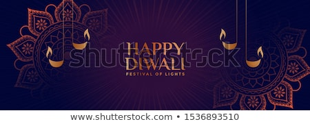 creative happy diwali festival banner in indian style stock photo © sarts