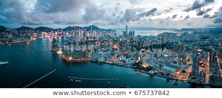 panoramic view of victoria harbor in Hong Kong,China Stock photo © galitskaya