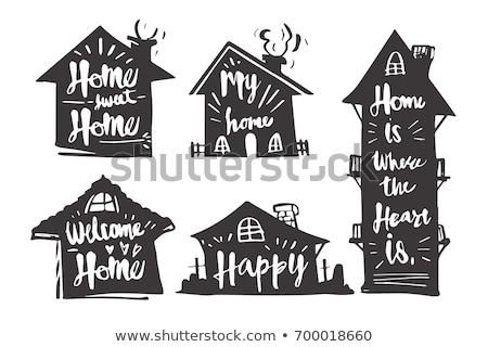 Retro home silhouette logo motel segno Foto d'archivio © barsrsind