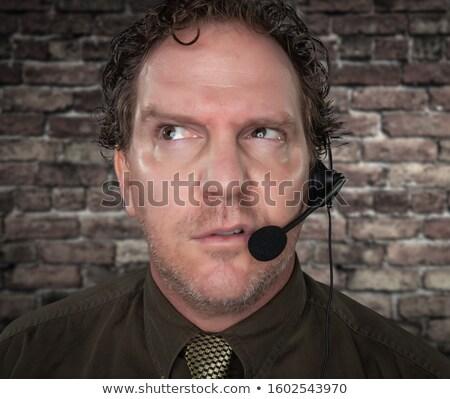 Ranzinza empresário cara telefone fone Foto stock © feverpitch