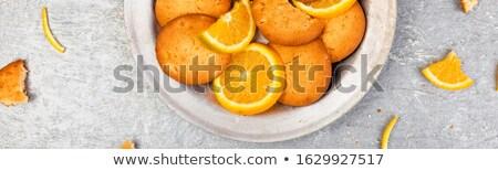 баннер Cookies оранжевый цитрусовые металл пластина Сток-фото © Illia