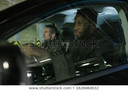 Foto stock: Jóvenes · África · gangster · socio · sesión · coche