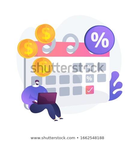 депозит вектора метафора прибыльный инвестиции зафиксировано Сток-фото © RAStudio